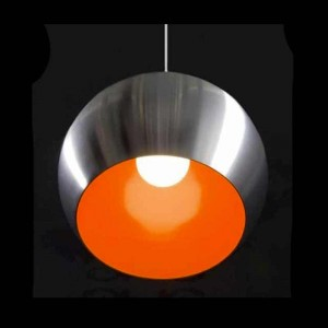 lampe-suspension-globo-alu-et-rouge