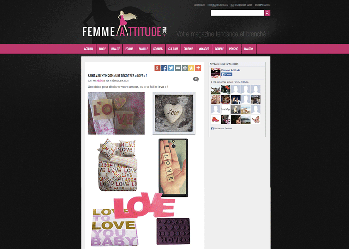 paris pr sent sur le site internet femme attitude. Black Bedroom Furniture Sets. Home Design Ideas