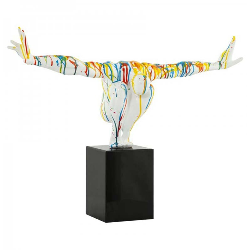 statue-deco-gymnaste-multicolore