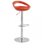 tabouret de bar orange et chrome