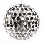 lampe suspension disco argent