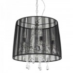 lampe suspension lustre baroque noir