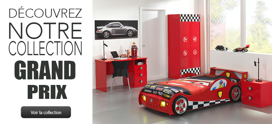 grand prix un lit voiture original pour la chambre de. Black Bedroom Furniture Sets. Home Design Ideas