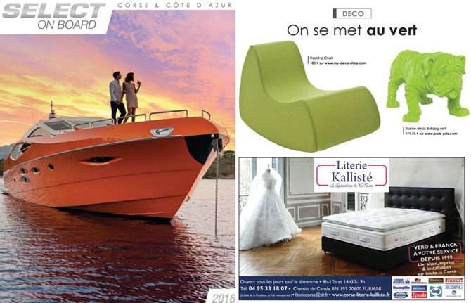 Le magazine Select On Board de Juin 2016 Parle de Paris Prix !